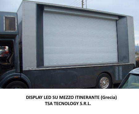 display led su mezzo itinerante tsa tecnology