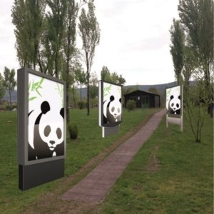 Totem led outdoor