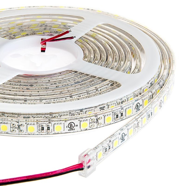 Strisce a led flessibili 9 6w metro luce bianca for Led a strisce