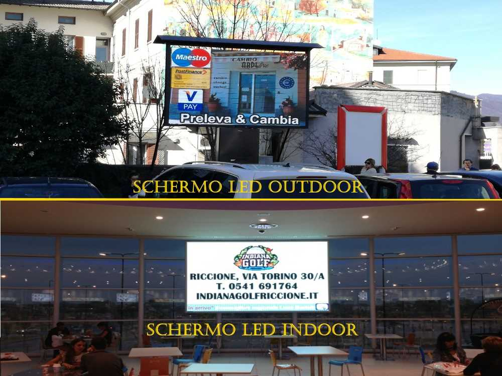 schermi led per indoor e outdoor