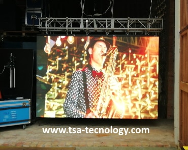 ledwall rental passo 4.8mm outdoor rental service video Caorle Venezia