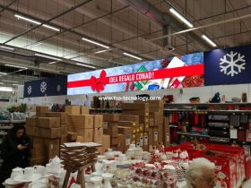 insegne led video per scaffali supermercato Conad Rimini TSA LED di San Marino
